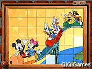 sort my tiles mickey friends in roller coaster
