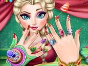 Elsa karácsonyi manikűrje