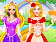 Rapunzel and barbie dress up 2 qiqigames com play free games