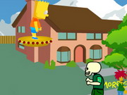 Play Bart Simpson Fights Zombies Hacked