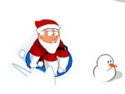 Santa on a sled Hacked