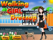 Walking Girl Dressup
