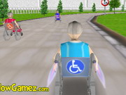 3d Wheelchair Race