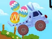 Húsvéti tojás szállítás dömperrel