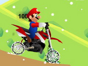 Mario Motocross Snowing