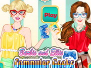 Barbie And Ellie Computer Geeks
