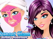 Sunset Glam Beauty Makeover
