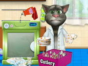 Talking Tom Washing