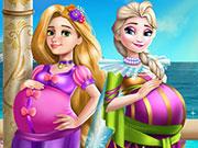 Elsa és Barbi terhesek